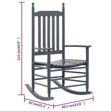 vidaXL Balansoar cu șezut curbat, gri, lemn[8/8]