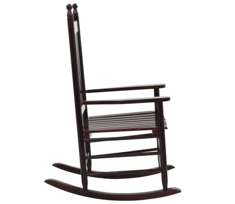 vidaXL Scaun balansoar cu șezut curbat, maro, lemn[3/8]