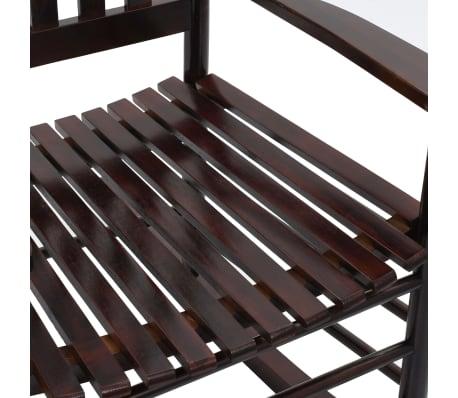 vidaXL Scaun balansoar cu șezut curbat, maro, lemn[6/8]