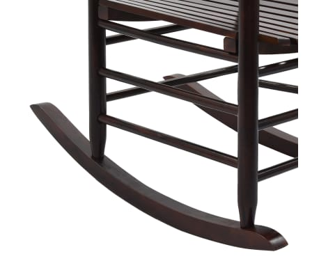 vidaXL Scaun balansoar cu șezut curbat, maro, lemn[7/8]