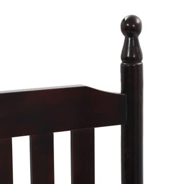 vidaXL Scaun balansoar cu șezut curbat, maro, lemn[5/8]