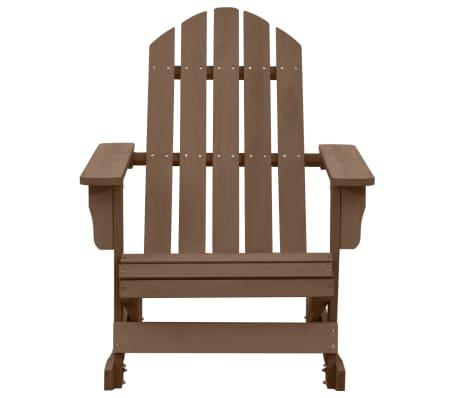 vidaXL Градински люлеещ стол, дърво, кафяв[2/7]
