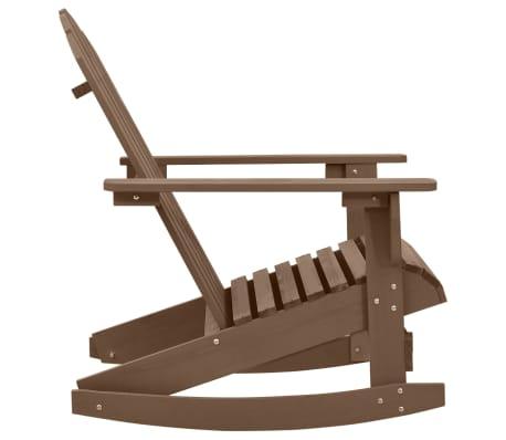 vidaXL Градински люлеещ стол, дърво, кафяв[3/7]