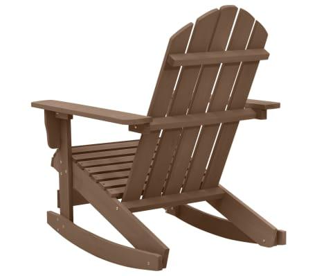 vidaXL Градински люлеещ стол, дърво, кафяв[4/7]