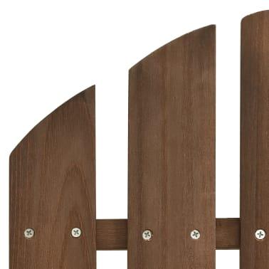 vidaXL Градински люлеещ стол, дърво, кафяв[5/7]