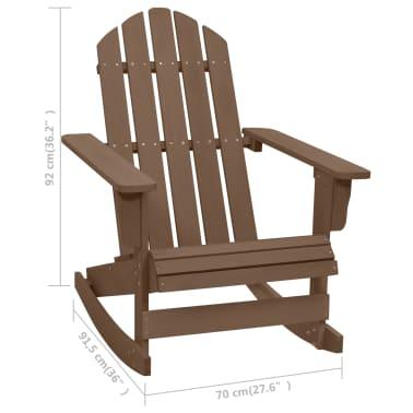 vidaXL Градински люлеещ стол, дърво, кафяв[6/7]