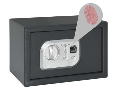 vidaXL Skait. seifas su pirštų atsp. užrak., tams. pilk., 31x20x20cm[2/12]