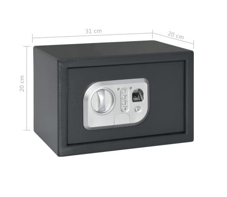 vidaXL Coffre-fort numérique Empreinte digitale Gris foncé 31x20x20 cm[12/12]