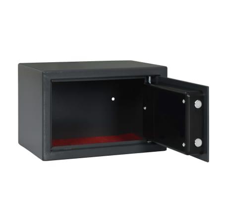 vidaXL Skait. seifas su pirštų atsp. užrak., tams. pilk., 31x20x20cm[6/12]