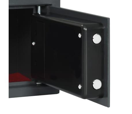 vidaXL Coffre-fort numérique Empreinte digitale Gris foncé 31x20x20 cm[7/12]