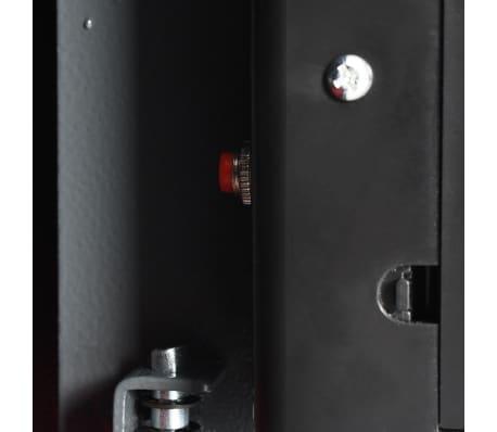 vidaXL Coffre-fort numérique Empreinte digitale Gris foncé 31x20x20 cm[9/12]