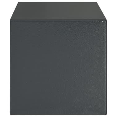 vidaXL Skait. seifas su pirštų atsp. užrak., tams. pilk., 31x20x20cm[5/12]