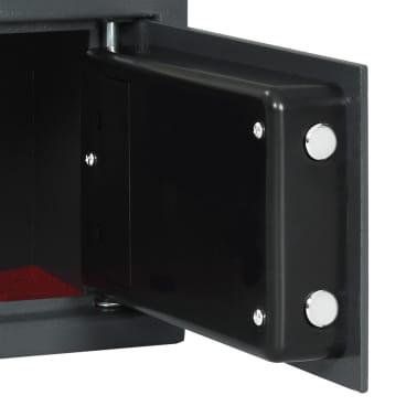 vidaXL Skait. seifas su pirštų atsp. užrak., tams. pilk., 31x20x20cm[7/12]