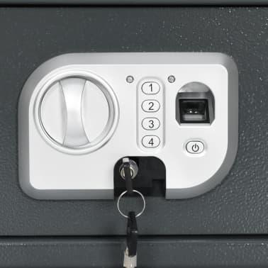 vidaXL Coffre-fort numérique Empreinte digitale Gris foncé 31x20x20 cm[8/12]