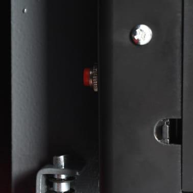 vidaXL Skait. seifas su pirštų atsp. užrak., tams. pilk., 31x20x20cm[9/12]