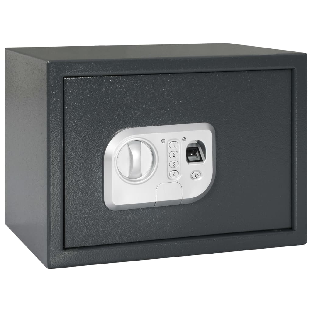 vidaXL Χρηματοκιβώτιο Ψηφιακό με Δακτ. Αποτύπωμα Σκ. Γκρι 35x25x25 εκ.