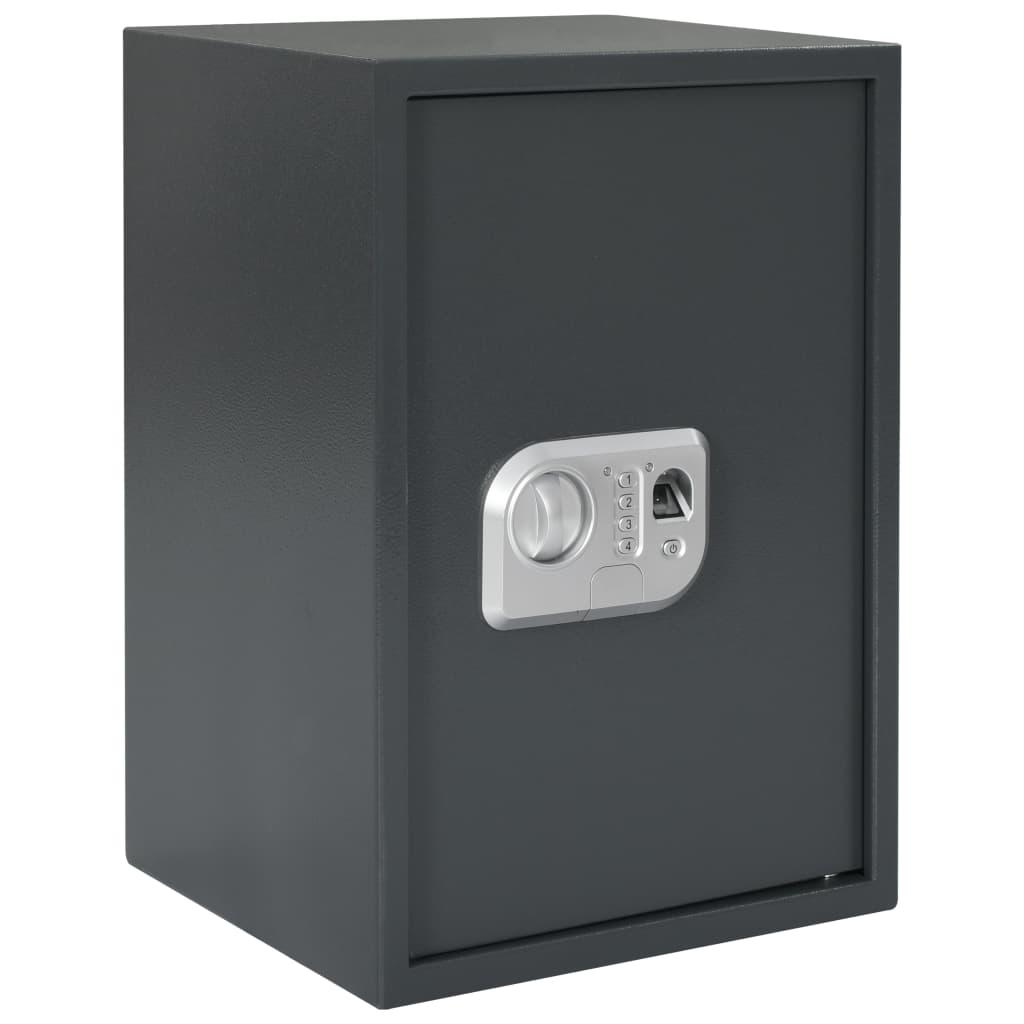 Digitální trezor na otisk prstu tmavě šedý 35 x 31 x 50 cm
