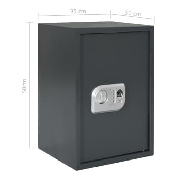 vidaXL Coffre-fort numérique Empreinte digitale Gris foncé 35x31x50 cm[12/12]