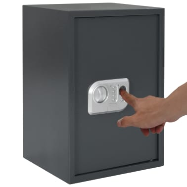 vidaXL Coffre-fort numérique Empreinte digitale Gris foncé 35x31x50 cm[10/12]