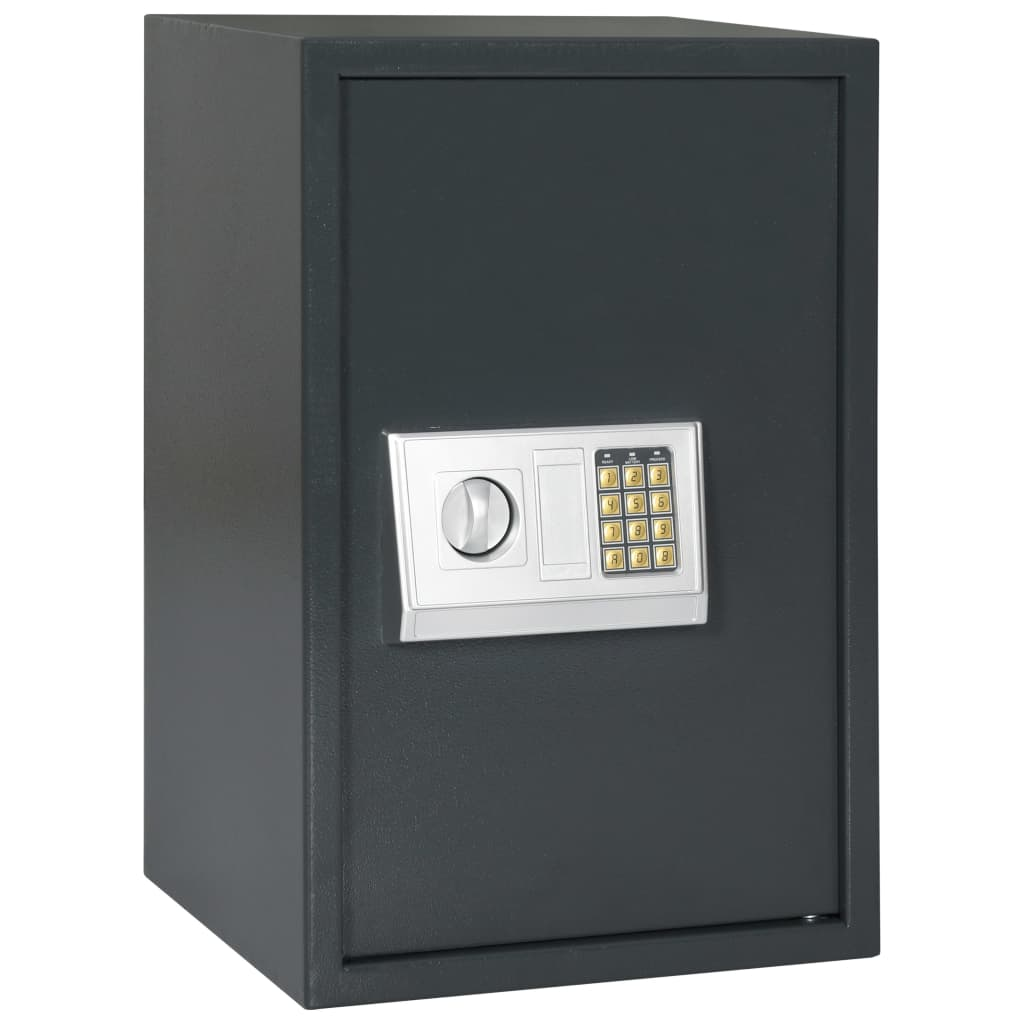 vidaXL Χρηματοκιβώτιο Ψηφιακό Σκούρο Γκρι 40 x 35 x 60 εκ.