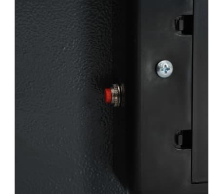 vidaXL Digitální trezor tmavě šedý 42 x 37 x 20 cm[8/10]