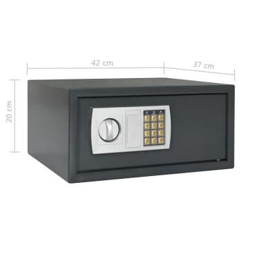 vidaXL Digitální trezor tmavě šedý 42 x 37 x 20 cm[10/10]