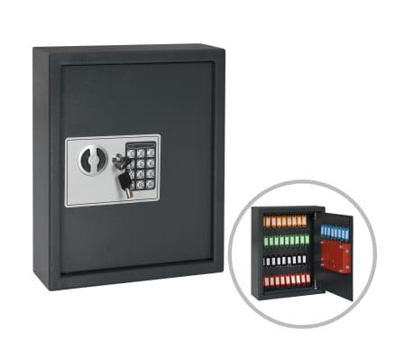 vidaXL Coffre-fort à clés Gris foncé 30 x 10 x 36,5 cm[1/12]