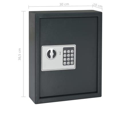 vidaXL Coffre-fort à clés Gris foncé 30 x 10 x 36,5 cm[12/12]