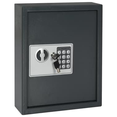 vidaXL Coffre-fort à clés Gris foncé 30 x 10 x 36,5 cm[2/12]