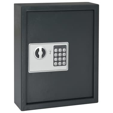 vidaXL Coffre-fort à clés Gris foncé 30 x 10 x 36,5 cm[3/12]