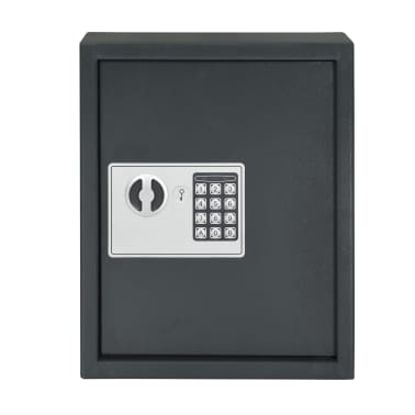 vidaXL Coffre-fort à clés Gris foncé 30 x 10 x 36,5 cm[4/12]