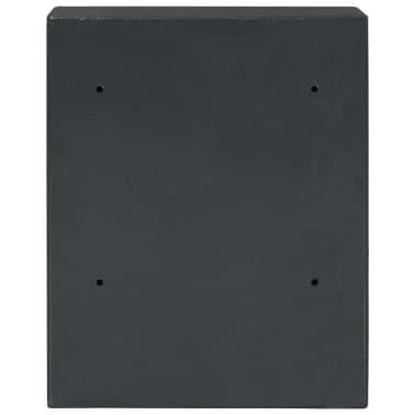 vidaXL Coffre-fort à clés Gris foncé 30 x 10 x 36,5 cm[6/12]