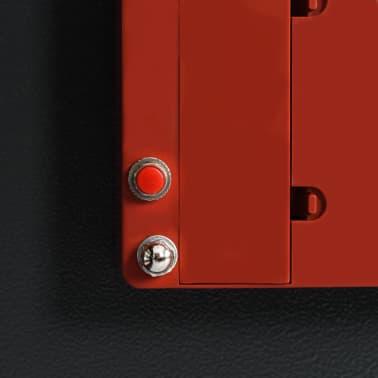 vidaXL Coffre-fort à clés Gris foncé 30 x 10 x 36,5 cm[10/12]