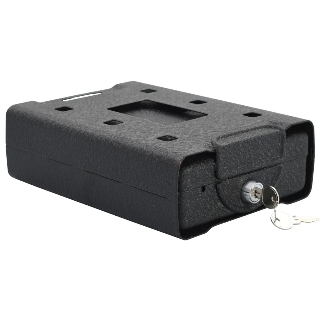vidaXL Seif de mașină, negru, 21,8 x 16 x 7 cm, oțel poza vidaxl.ro