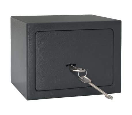 vidaXL Mechaninis seifas, tamsiai pilkas, 23x17x17cm, plienas[1/10]