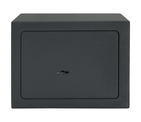 vidaXL Mechaninis seifas, tamsiai pilkas, 23x17x17cm, plienas[2/10]