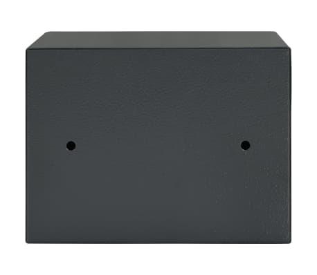 vidaXL Mechaninis seifas, tamsiai pilkas, 23x17x17cm, plienas[5/10]