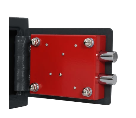 vidaXL Mechaninis seifas, tamsiai pilkas, 23x17x17cm, plienas[7/10]