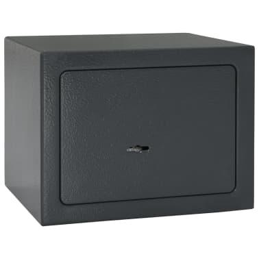 vidaXL Mechaninis seifas, tamsiai pilkas, 23x17x17cm, plienas[3/10]