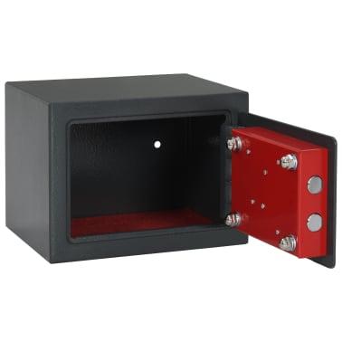 vidaXL Mechaninis seifas, tamsiai pilkas, 23x17x17cm, plienas[6/10]