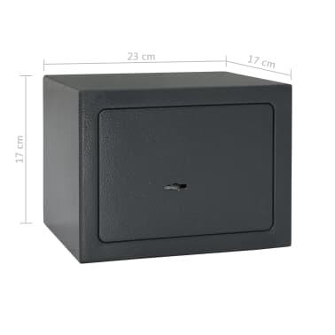 vidaXL Mechaninis seifas, tamsiai pilkas, 23x17x17cm, plienas[10/10]
