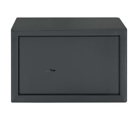 vidaXL Coffre-fort mécanique Gris foncé 31x20x20 cm Acier[2/10]