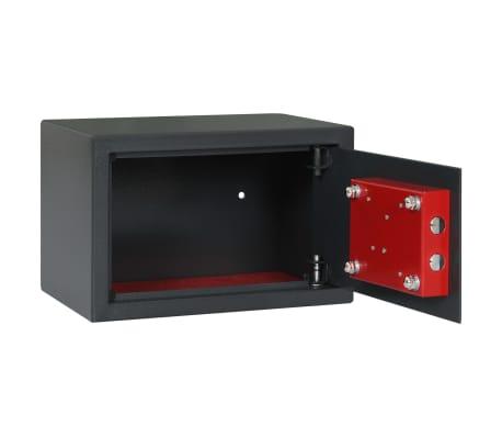 vidaXL Coffre-fort mécanique Gris foncé 31x20x20 cm Acier[6/10]