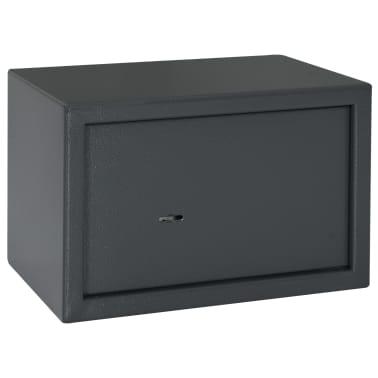 vidaXL Coffre-fort mécanique Gris foncé 31x20x20 cm Acier[3/10]