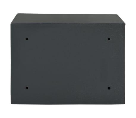 vidaXL Coffre-fort mécanique Gris foncé 35x25x25 cm Acier[5/10]