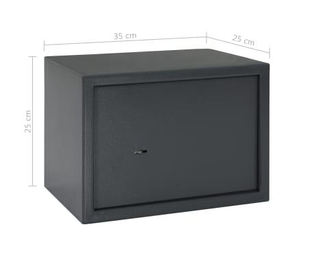vidaXL Coffre-fort mécanique Gris foncé 35x25x25 cm Acier[10/10]