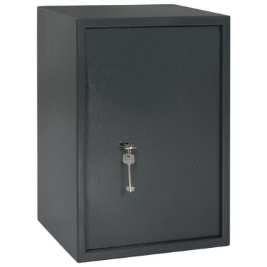 vidaXL Mechaninis seifas, tamsiai pilkas, 35x31x50cm, plienas[1/10]