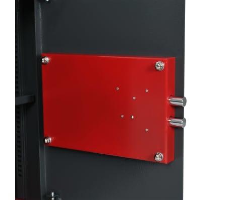 vidaXL Mechaninis seifas, tamsiai pilkas, 35x31x50cm, plienas[7/10]
