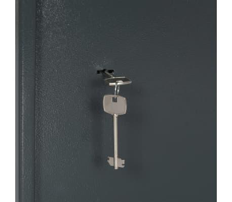 vidaXL Coffre-fort mécanique Gris foncé 35x31x50 cm Acier[8/10]