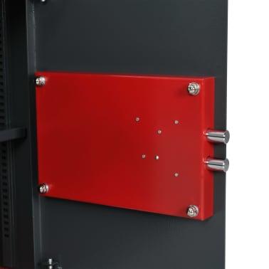 vidaXL Coffre-fort mécanique Gris foncé 35x31x50 cm Acier[7/10]
